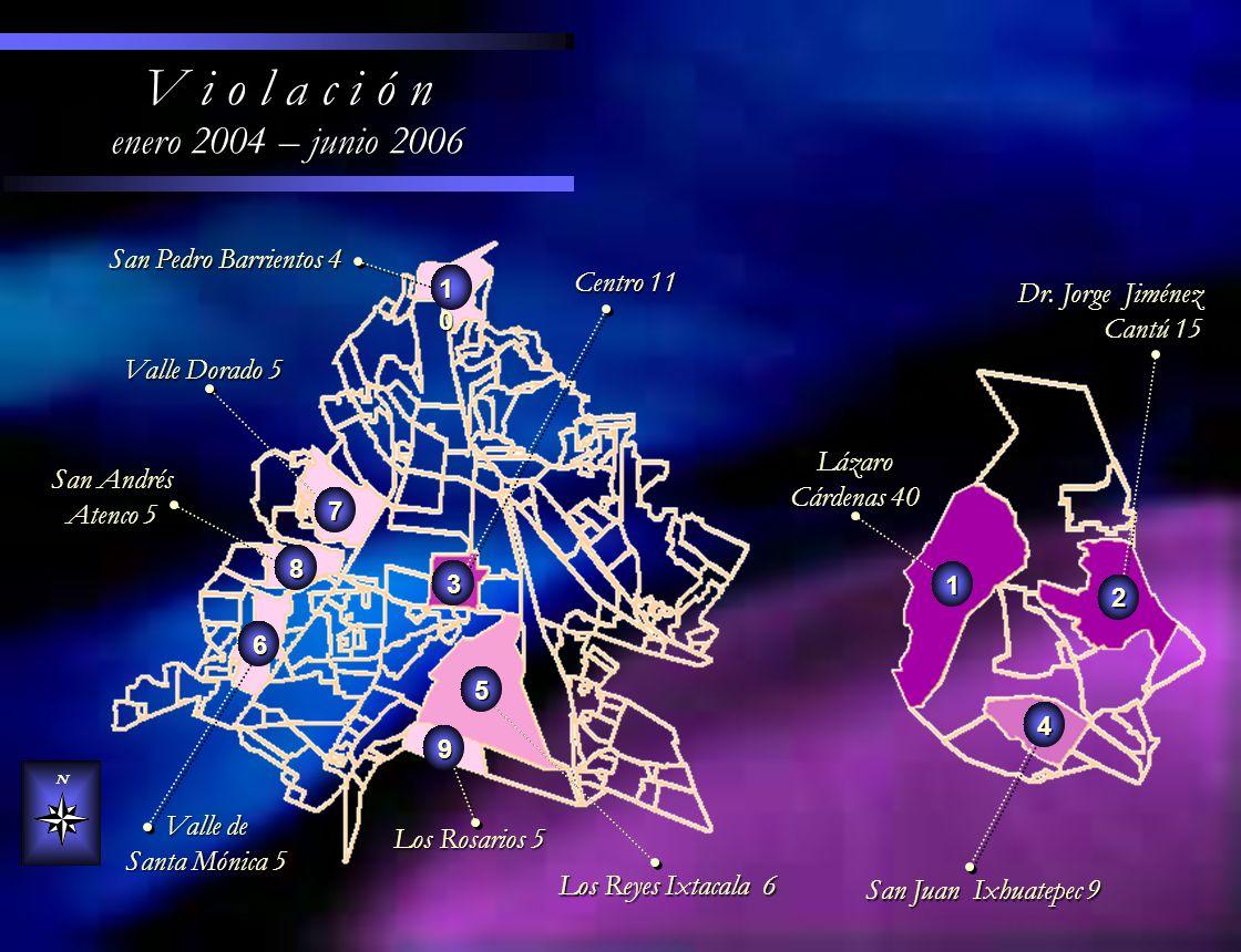 V i o l a c i ó n enero 2004 – junio 2006 San Pedro Barrientos 4
