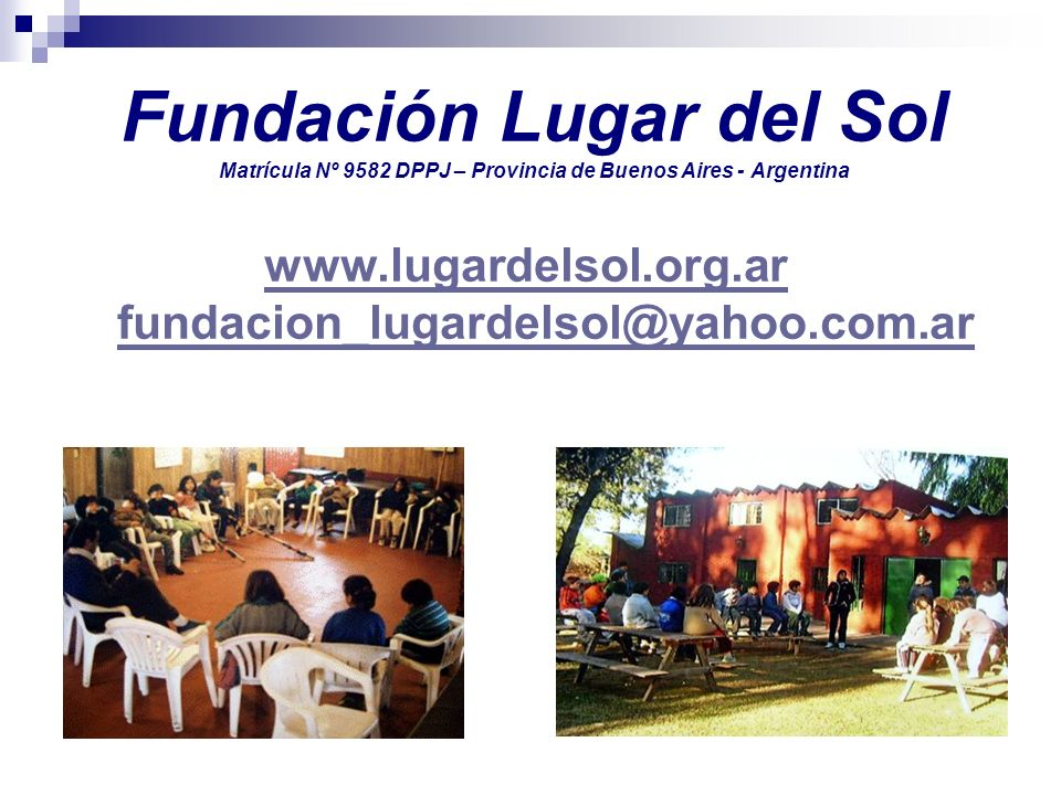 www.lugardelsol.org.ar fundacion_lugardelsol@yahoo.com.ar