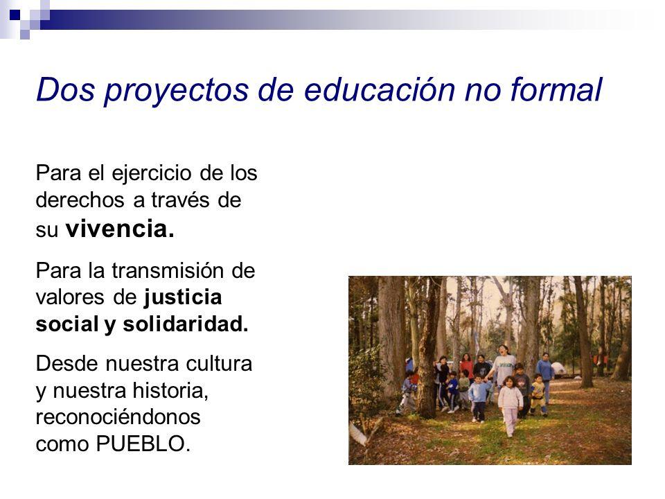 Dos proyectos de educación no formal