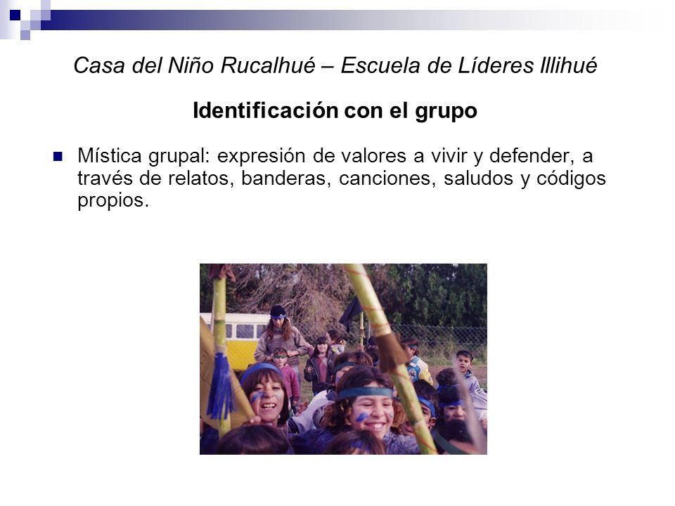 Casa del Niño Rucalhué – Escuela de Líderes Illihué Identificación con el grupo