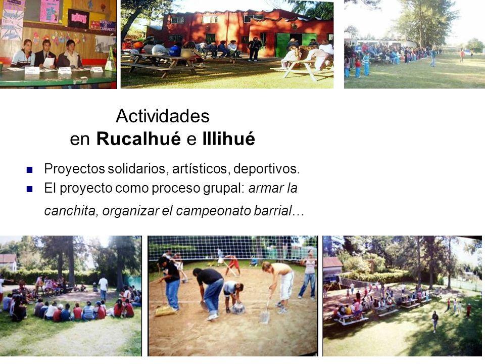 Actividades en Rucalhué e Illihué