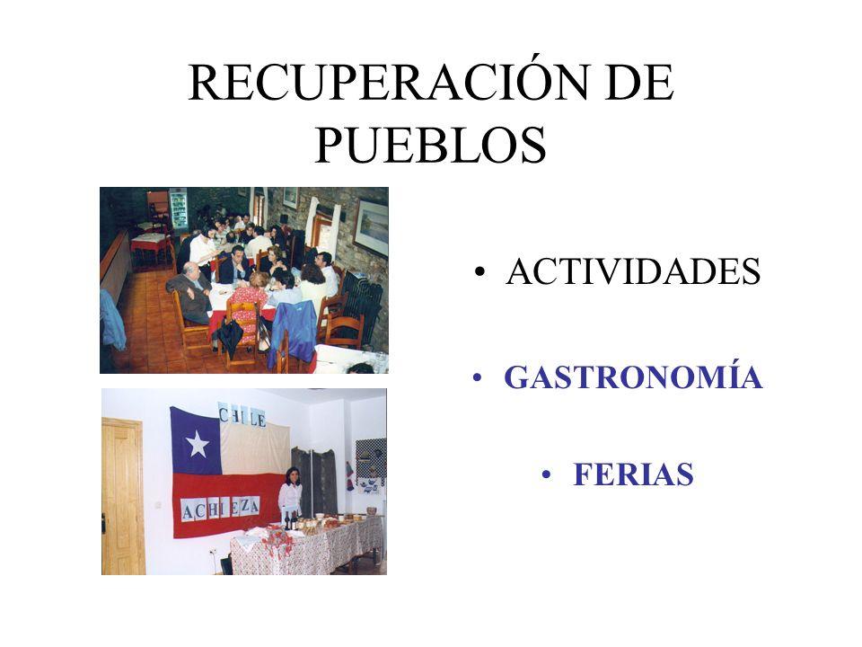 RECUPERACIÓN DE PUEBLOS