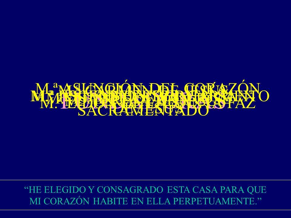 FUNDADORAS M.ª ASCENSIÓN DEL CARMEN M.ª JESÚS DEL ESPÍRITU SANTO