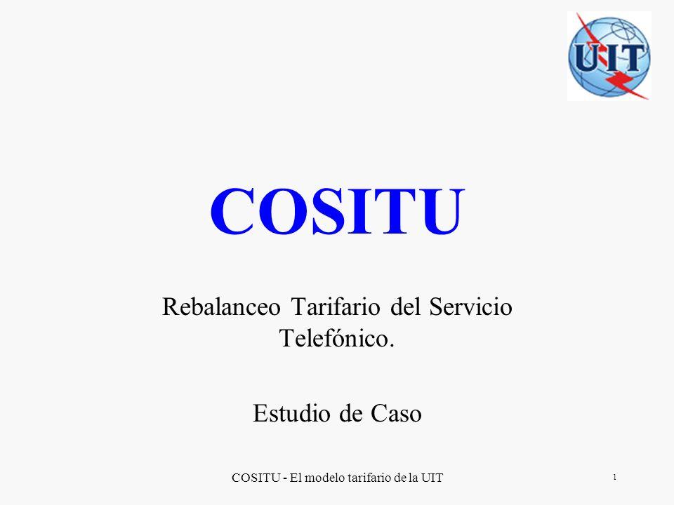 Rebalanceo Tarifario del Servicio Telefónico. Estudio de Caso