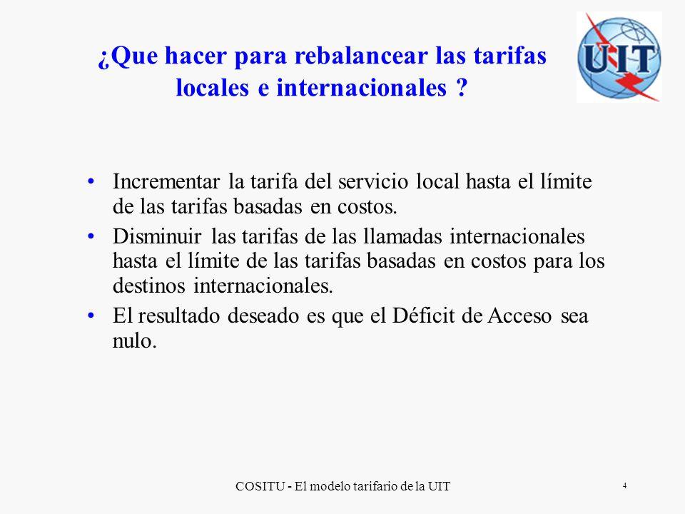 ¿Que hacer para rebalancear las tarifas locales e internacionales