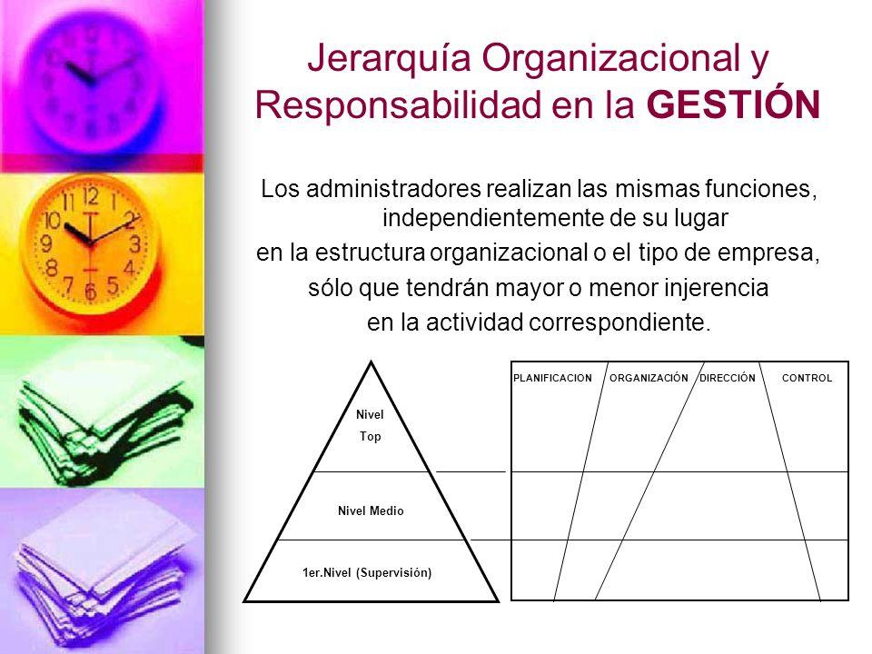 Jerarquía Organizacional y Responsabilidad en la GESTIÓN