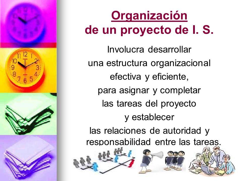 Organización de un proyecto de I. S.