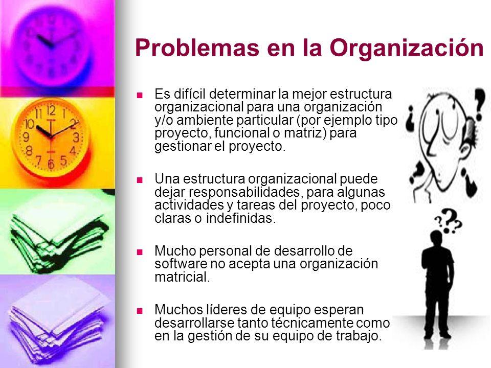 Problemas en la Organización