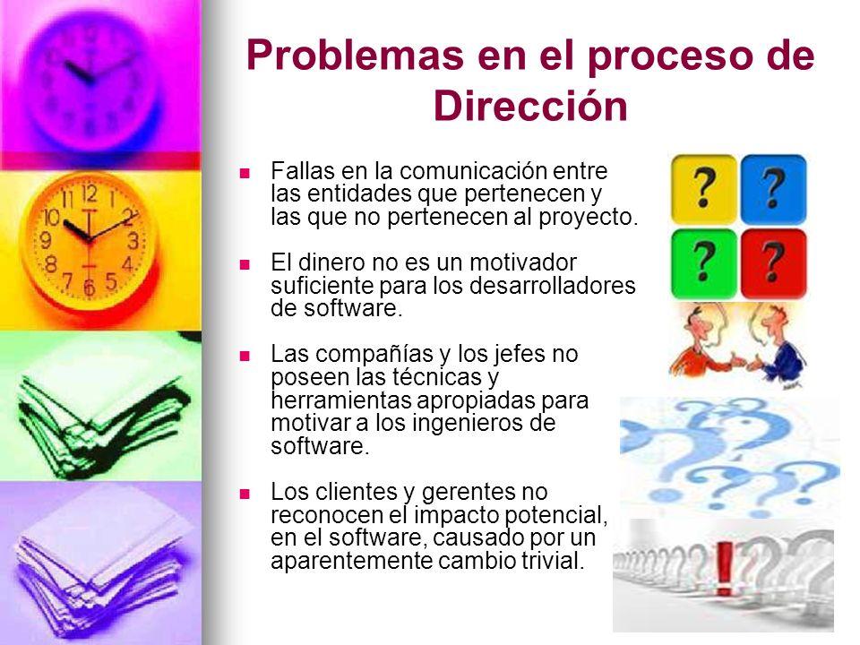 Problemas en el proceso de Dirección