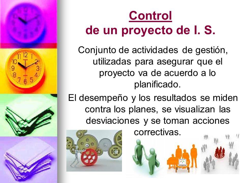Control de un proyecto de I. S.