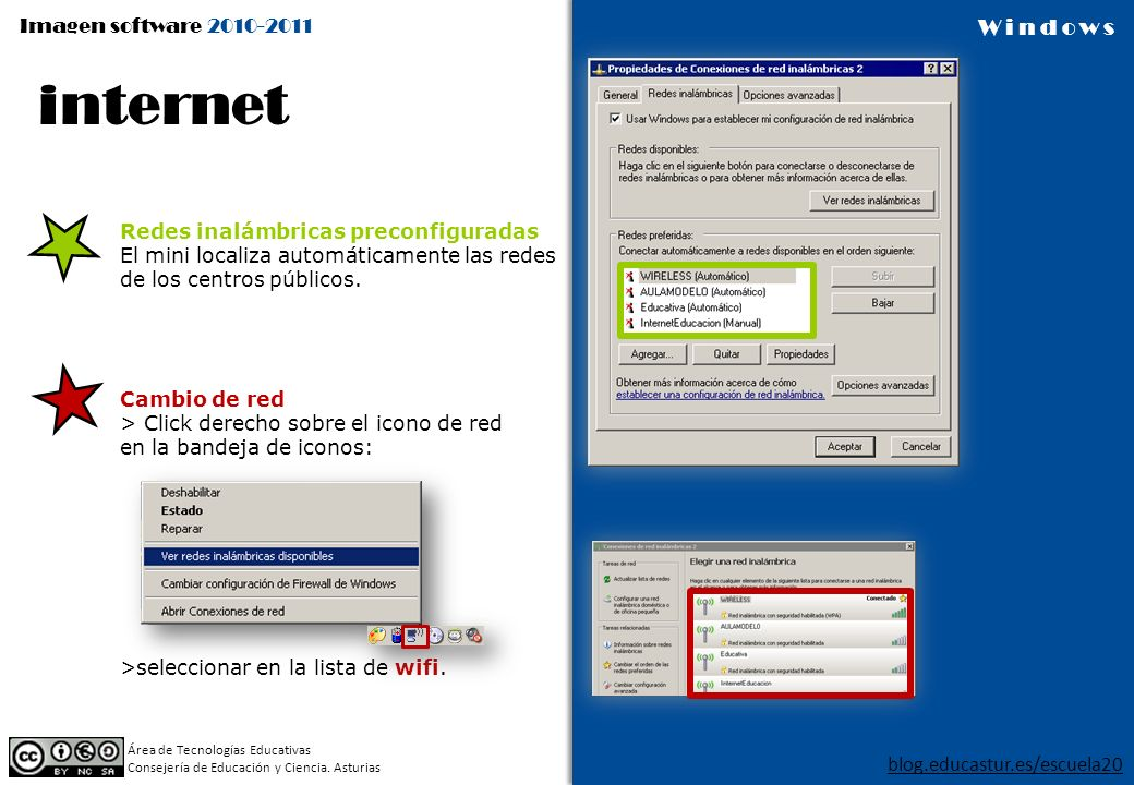 internet Redes inalámbricas preconfiguradas
