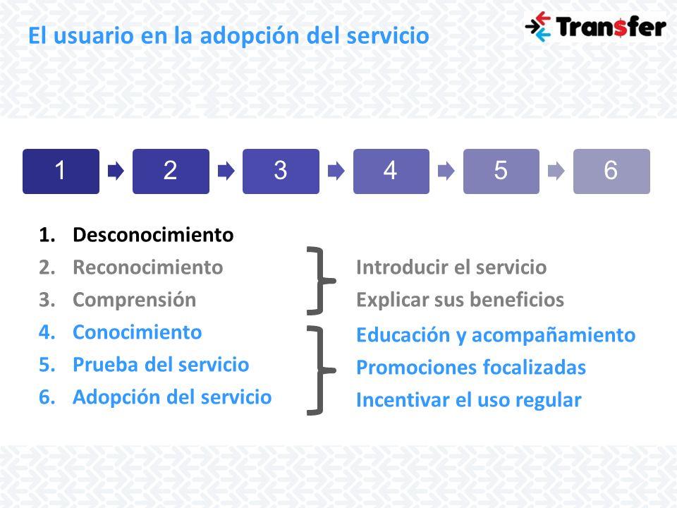 El usuario en la adopción del servicio