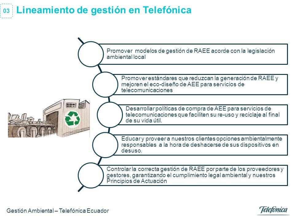 Lineamiento de gestión en Telefónica