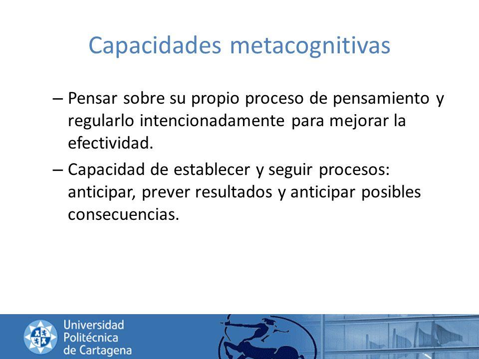 Capacidades metacognitivas