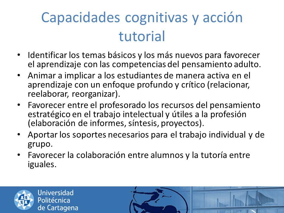 Capacidades cognitivas y acción tutorial