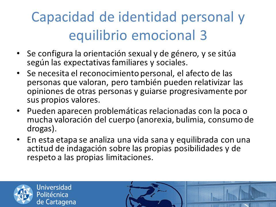 Capacidad de identidad personal y equilibrio emocional 3