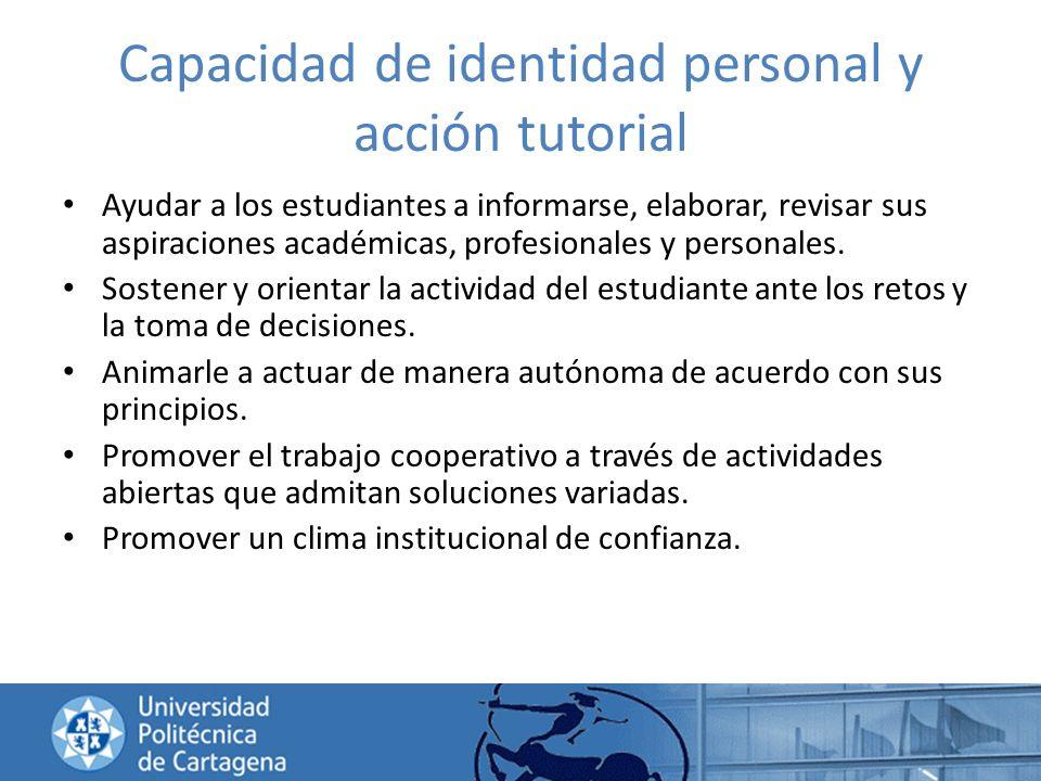 Capacidad de identidad personal y acción tutorial