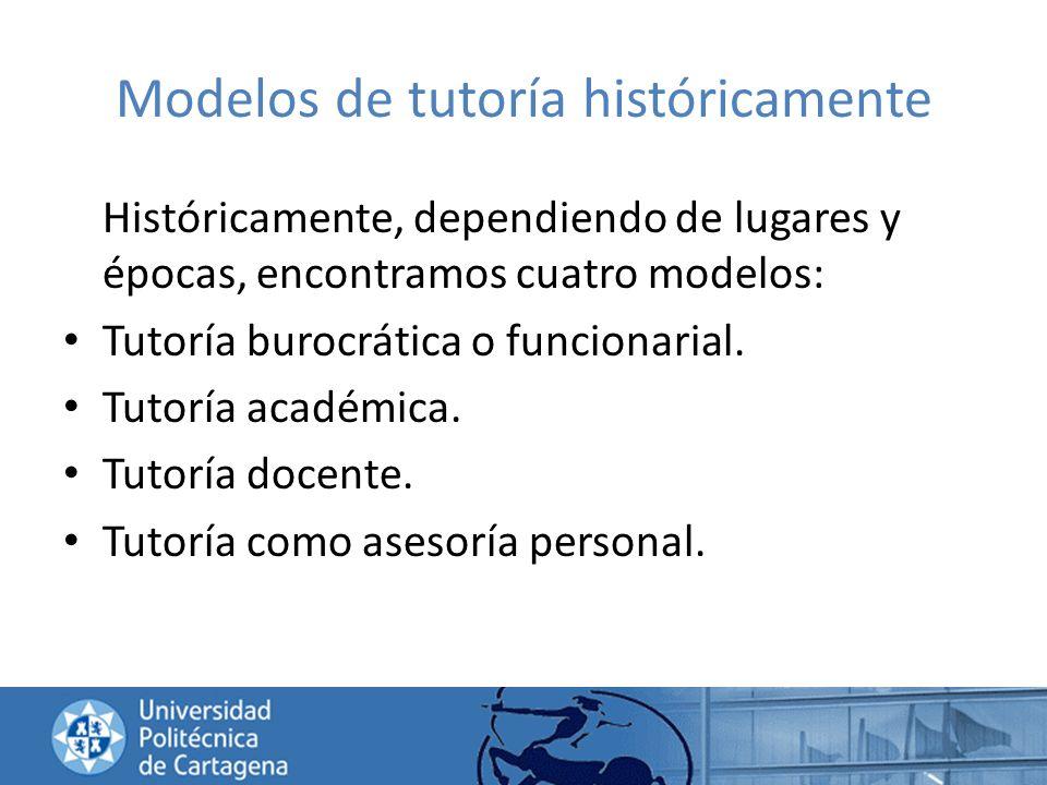 Modelos de tutoría históricamente