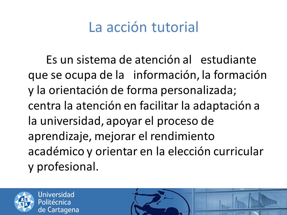 La acción tutorial