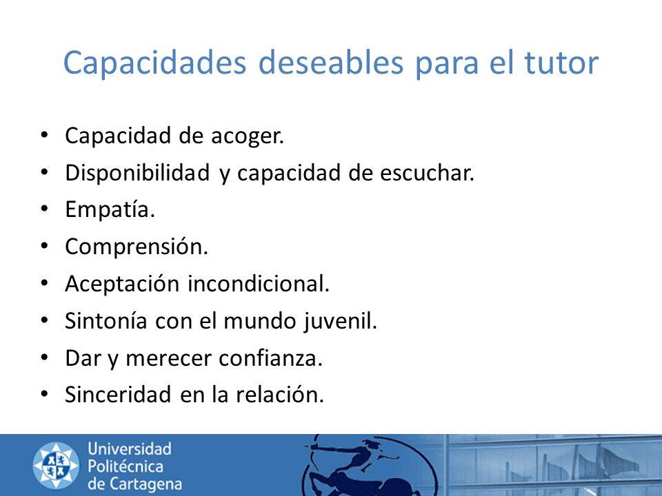 Capacidades deseables para el tutor