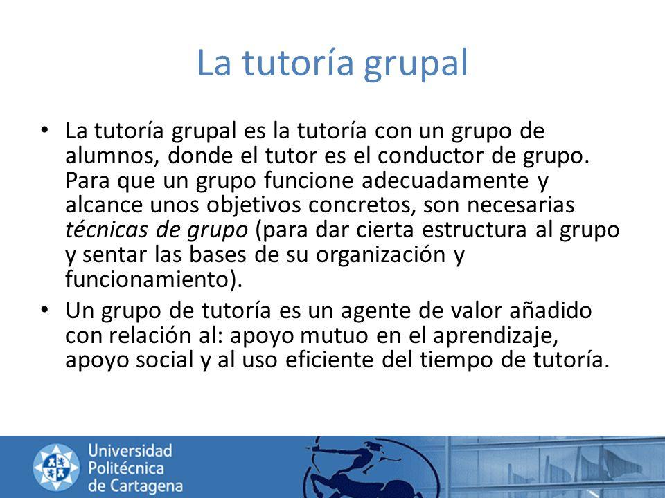 La tutoría grupal