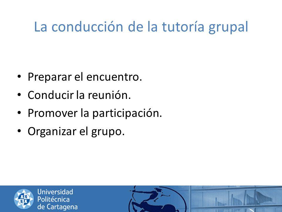 La conducción de la tutoría grupal