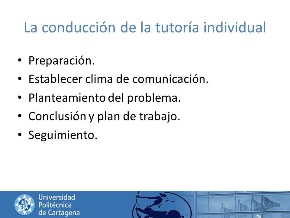 La conducción de la tutoría individual