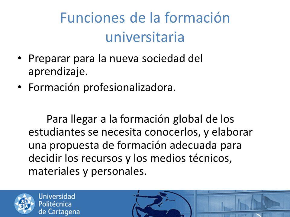 Funciones de la formación universitaria