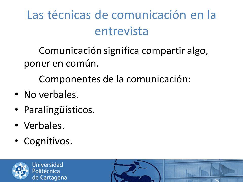 Las técnicas de comunicación en la entrevista