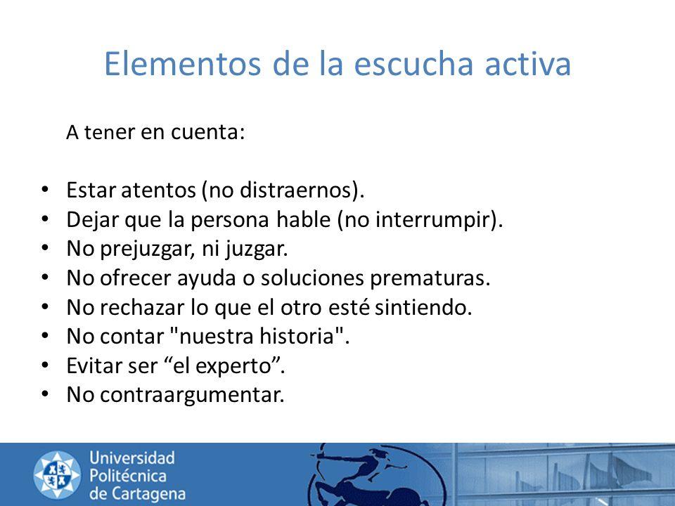 Elementos de la escucha activa