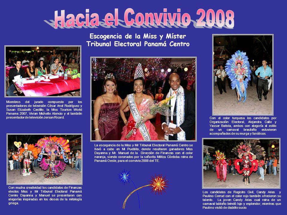 Escogencia de la Miss y Míster Tribunal Electoral Panamá Centro