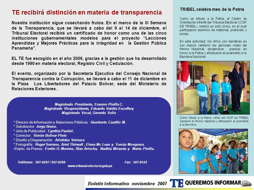 TE recibirá distinción en materia de transparencia