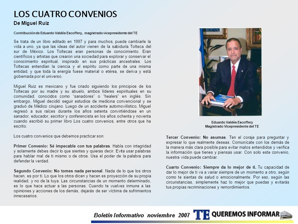Eduardo Valdés Escoffery Magistrado Vicepresidente del TE