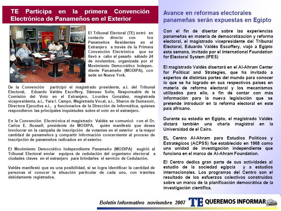 TE Participa en la primera Convención Electrónica de Panameños en el Exterior