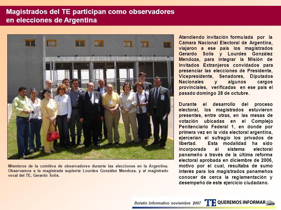 Magistrados del TE participan como observadores en elecciones de Argentina