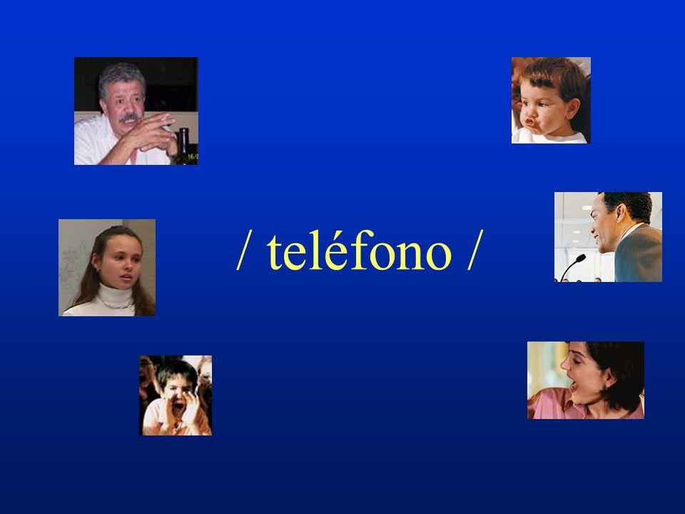 / teléfono /