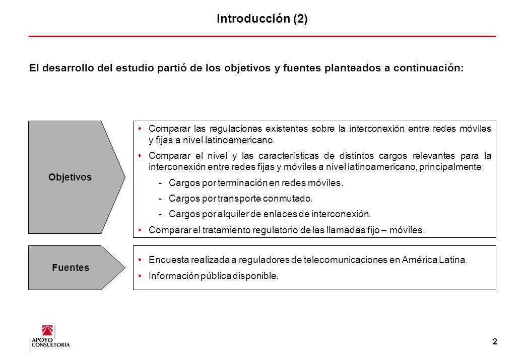 Introducción (2) El desarrollo del estudio partió de los objetivos y fuentes planteados a continuación: