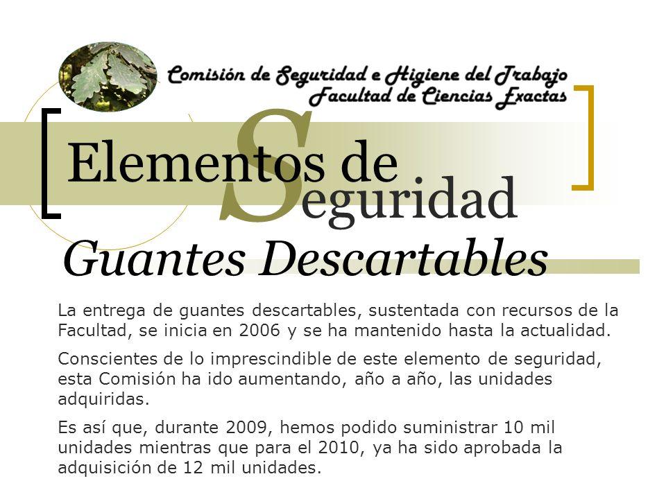 S Elementos de eguridad Guantes Descartables