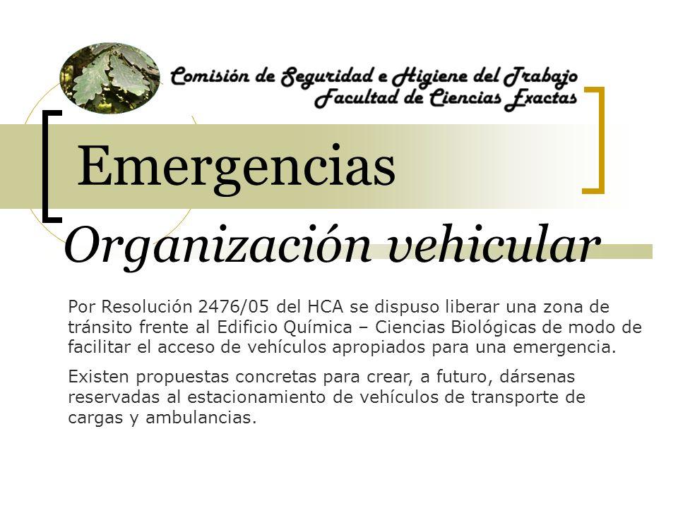 Emergencias Organización vehicular