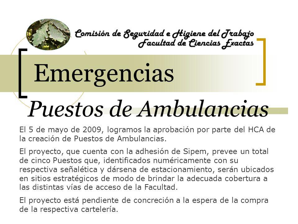 1 Emergencias Puestos de Ambulancias PUESTO