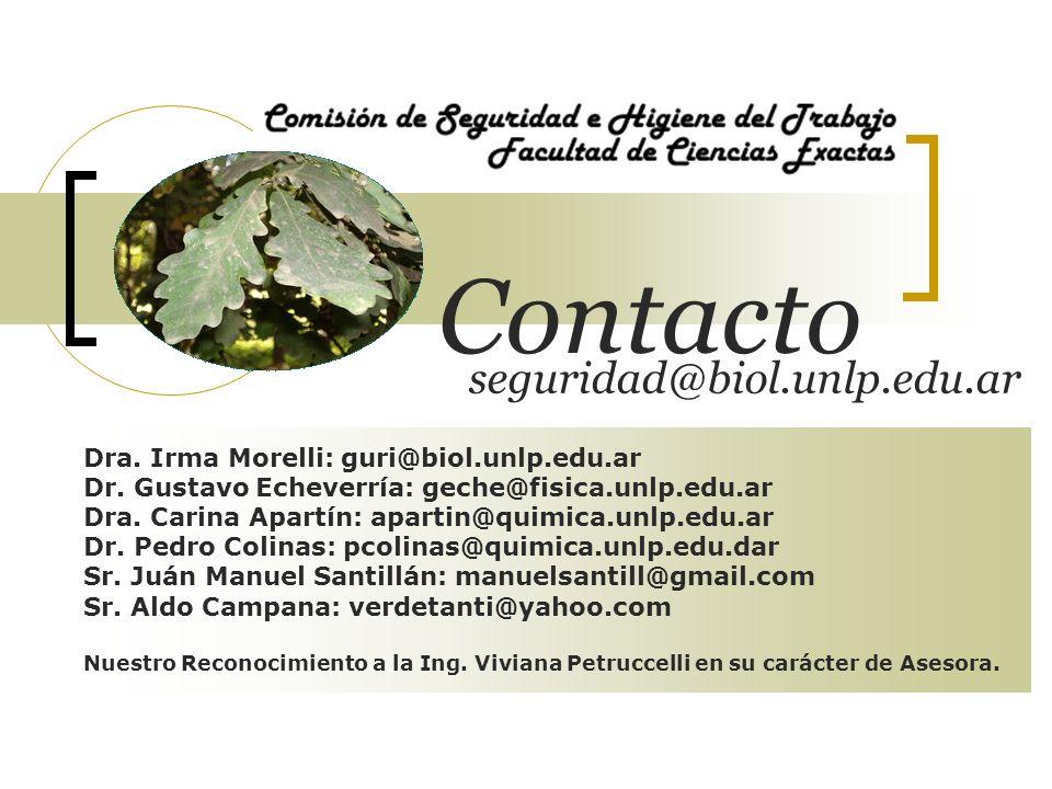 Contacto seguridad@biol.unlp.edu.ar