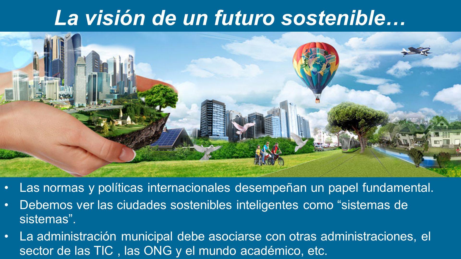 La visión de un futuro sostenible…