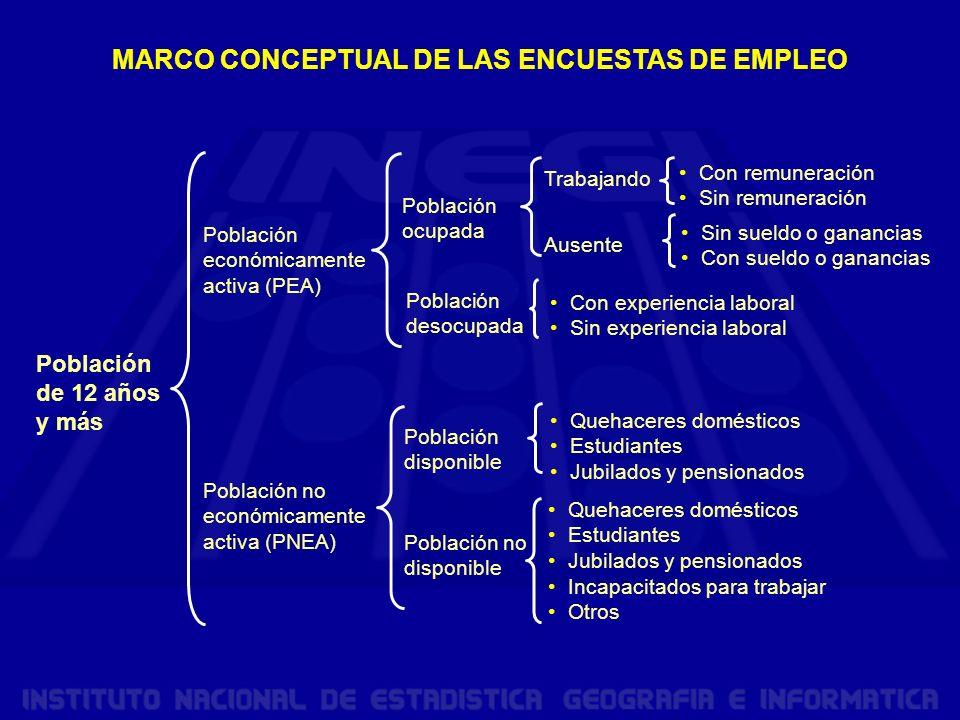 MARCO CONCEPTUAL DE LAS ENCUESTAS DE EMPLEO