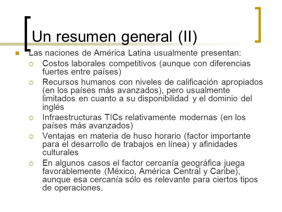 Un resumen general (II)