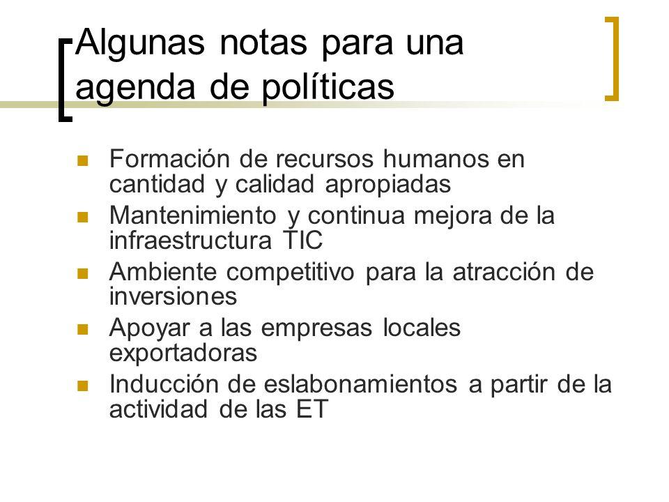 Algunas notas para una agenda de políticas