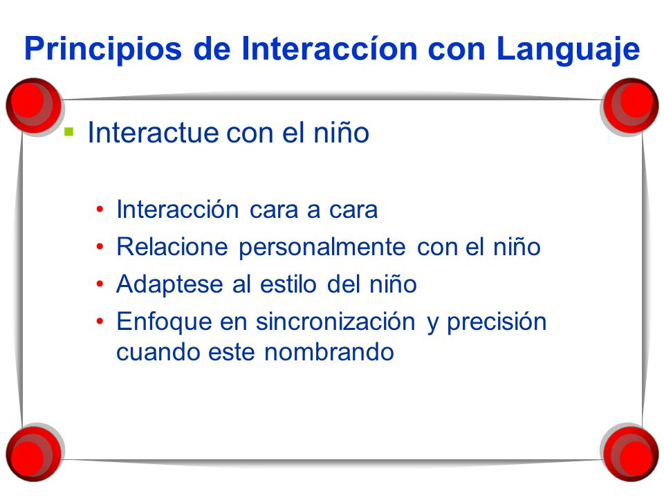 Principios de Interaccíon con Languaje
