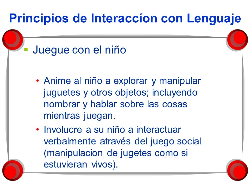 Principios de Interaccíon con Lenguaje