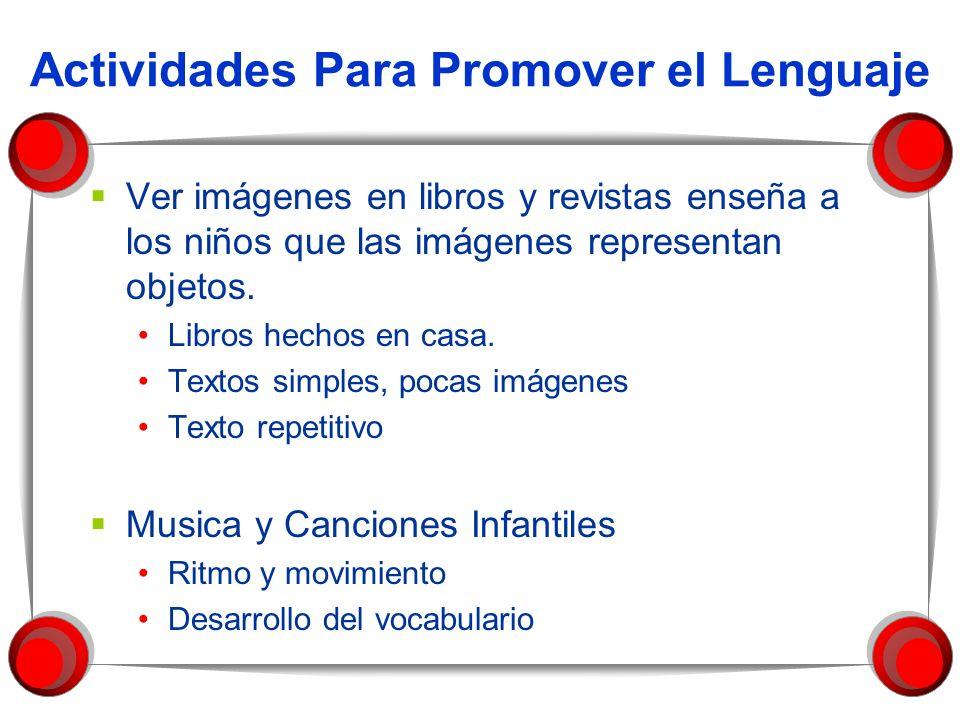 Actividades Para Promover el Lenguaje