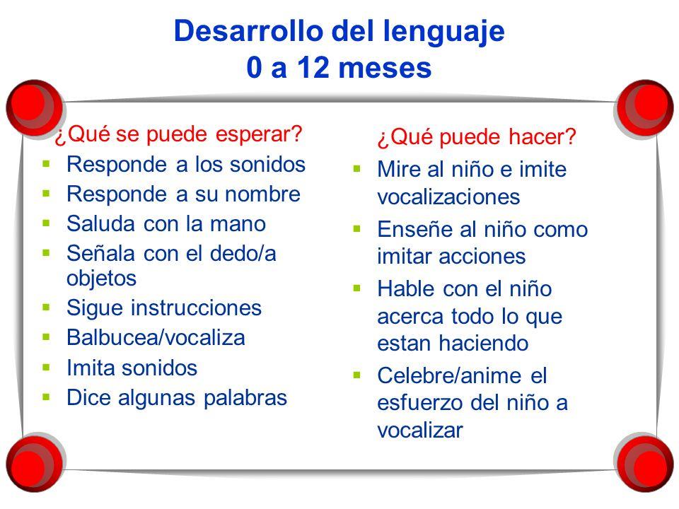 Desarrollo del lenguaje 0 a 12 meses