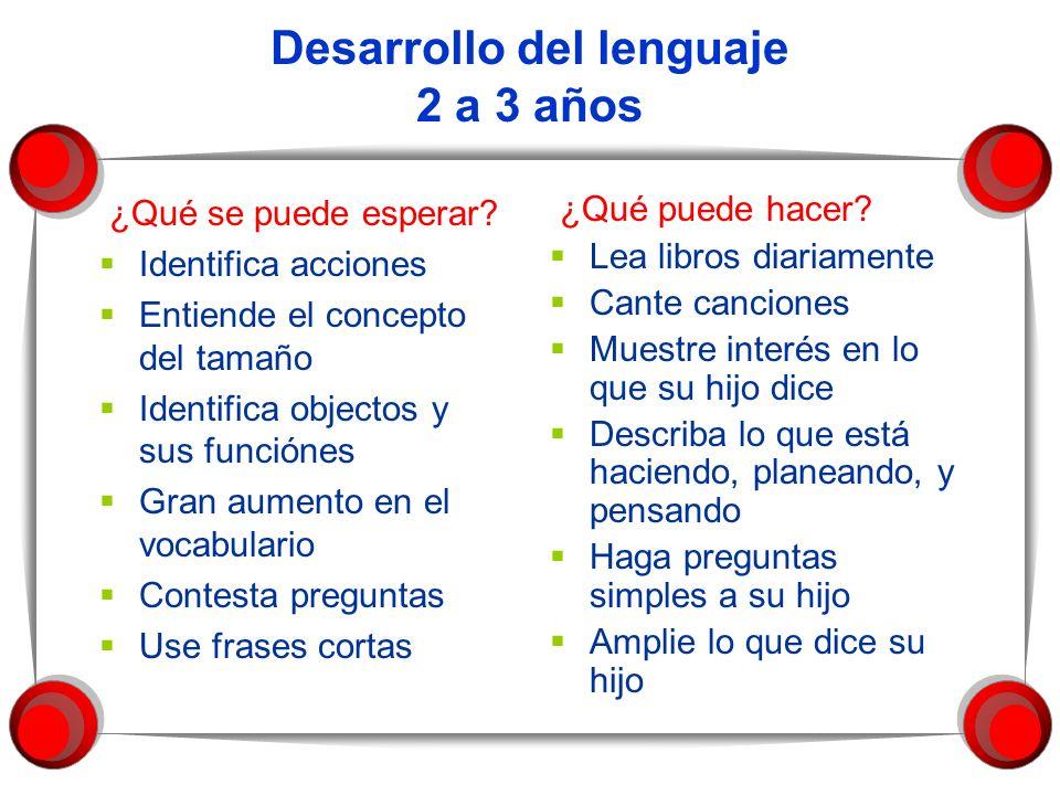 Desarrollo del lenguaje 2 a 3 años